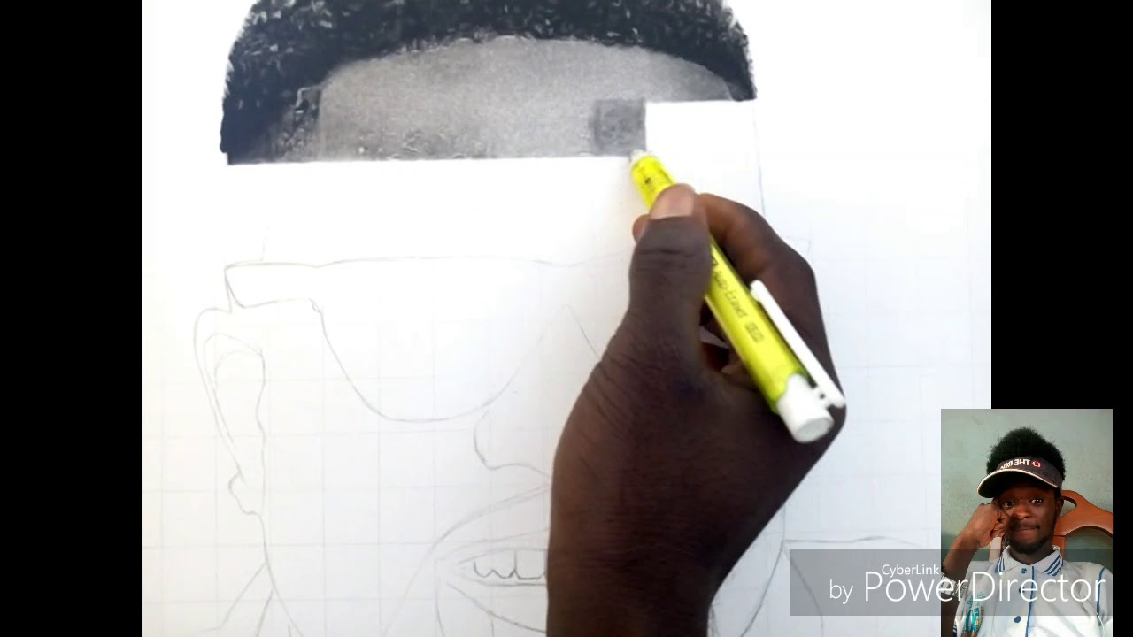 Sarkodie hyper realistic shading by nana agyapong art