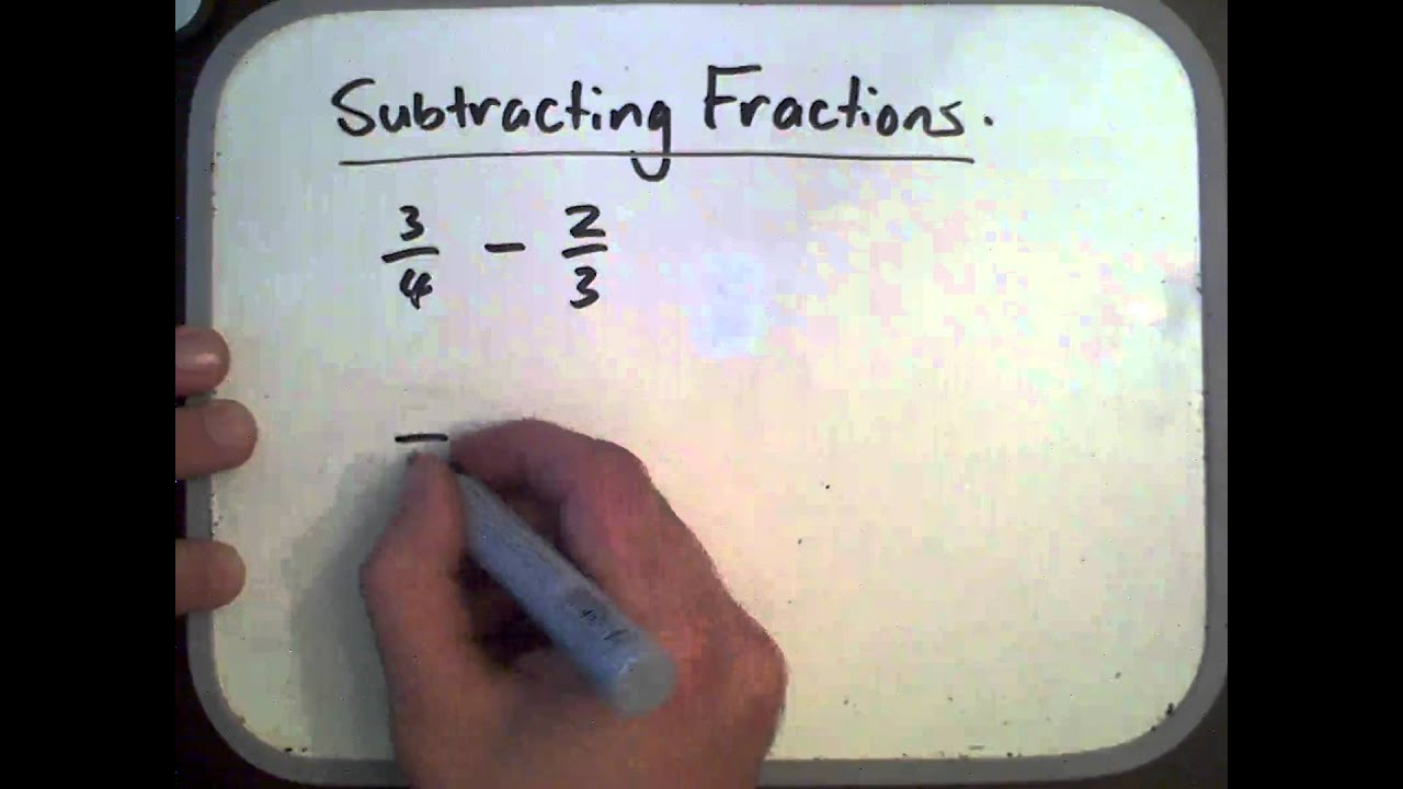 Subtracting Fractions With Different Denominator
