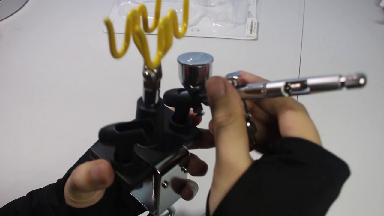airbrush stand clamp on table mount holds 4 unboxing youtube