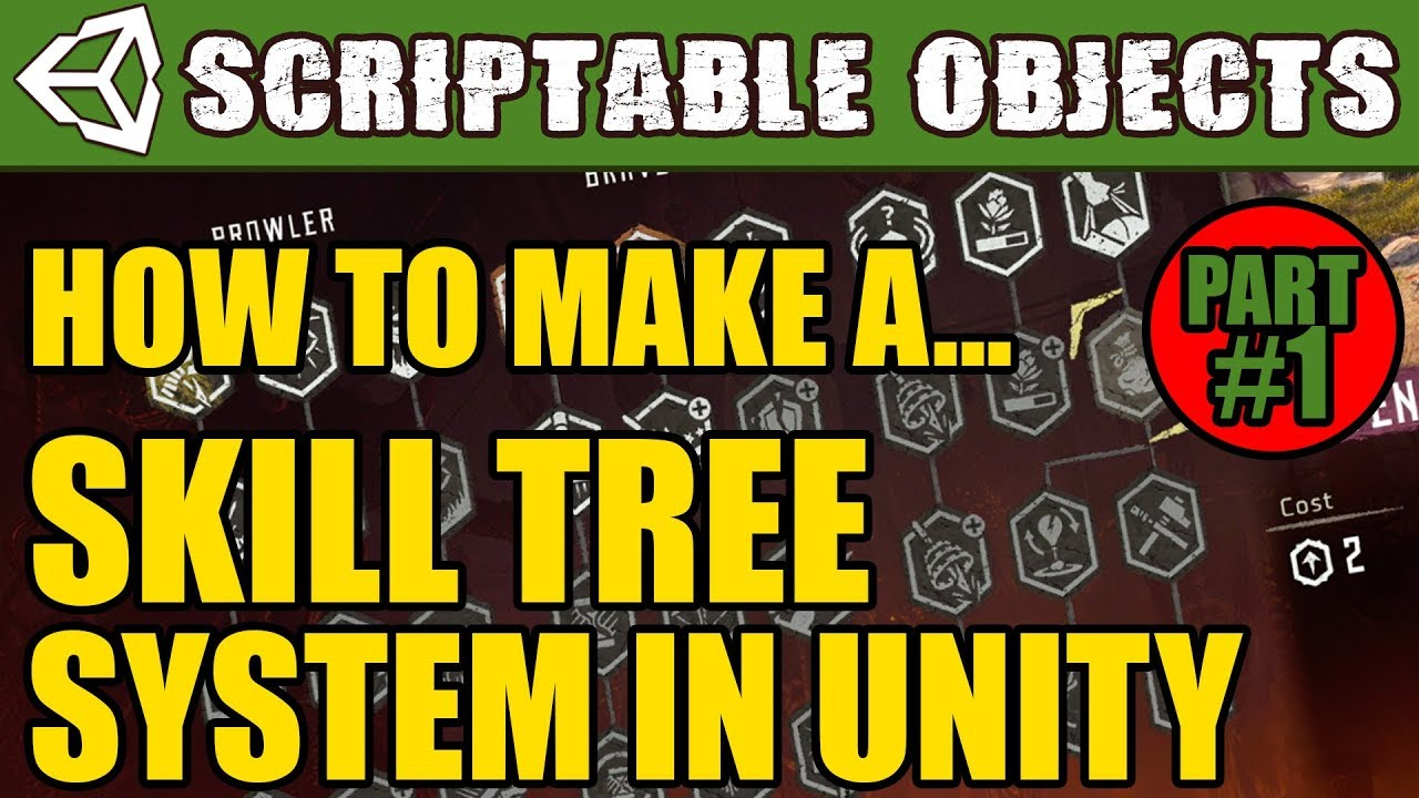 Unity Tutorial - How to make a Skill System with Scriptable Objects! Part 1