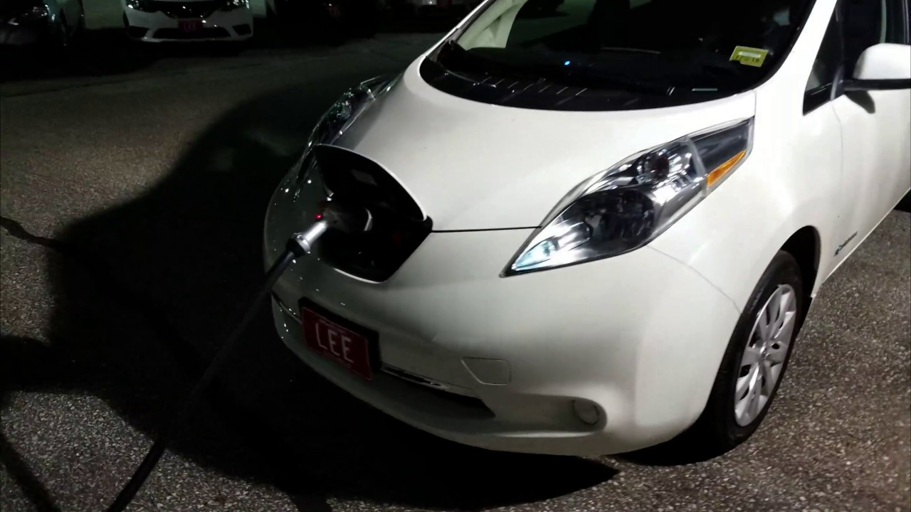 Using The Dc Fast Charger On My 2017 Nissan Leaf For First Time