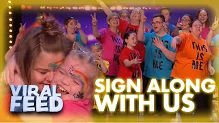 EMOTIONAL Sign Along With Us Choir GOLDEN BUZZER On Britain's Got Talent   VIRAL FEED