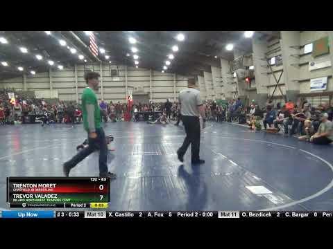 12U 63 Trenton Moret Chatfield Jr Wrestling Vs Trevor Valadez Inland Northwest Training Cent