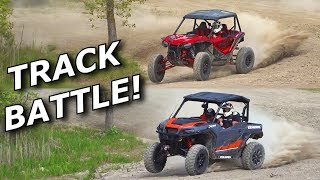 Honda Talon 1000R vs Polaris General XP1000 TRACK LAP BATTLE!