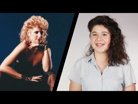 Daughters Get Their Mom's '80s Hairstyle