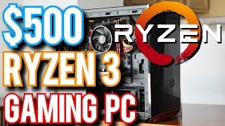 Little Red: Under $500 Ryzen 3 1200 Budget Build!