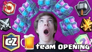 CZ BEER TEAM 11X DRAFT CHEST OPENING | CLASH ROYALE