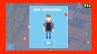 """Unlock ☆ Ben Weatherall ☆ Crossy Road, Mystery Character: Use The Dark Lord To Get A """"great Score"""""""