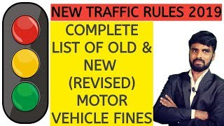 New Traffic Rules & Fines 2019
