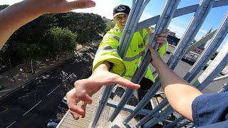 Rooftop Parkour Escape from Security - POV 🇬🇧