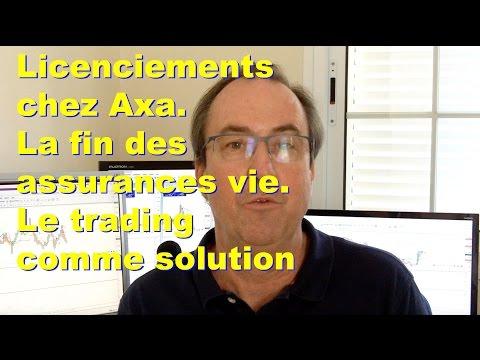 Licenciements chez Axa. La fin des assurances vies. Le trading comme solution