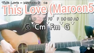 Download This Love-Maroon5 chords lyrics guitar lesson, cover by Remi J, Unplugged 코드/가사 리프 Mp3