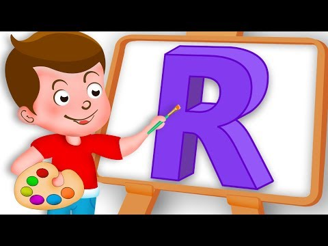 Drawing Alphabet R Letter coloring painting for kids Kids Drawing TV