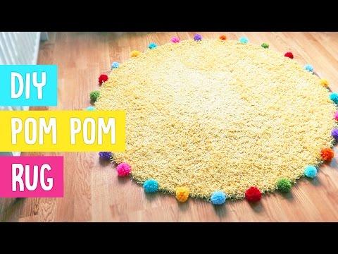 DIY Revamp Nursery Rug with Pom Poms