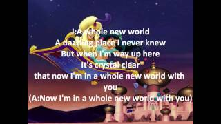 A whole new world - Aladdin instrumental with lyrics