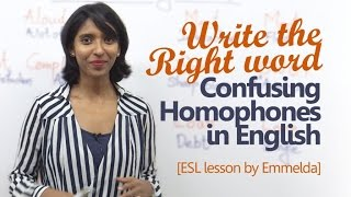 Common Homophones in English - Improve your English writing | Free English lessons