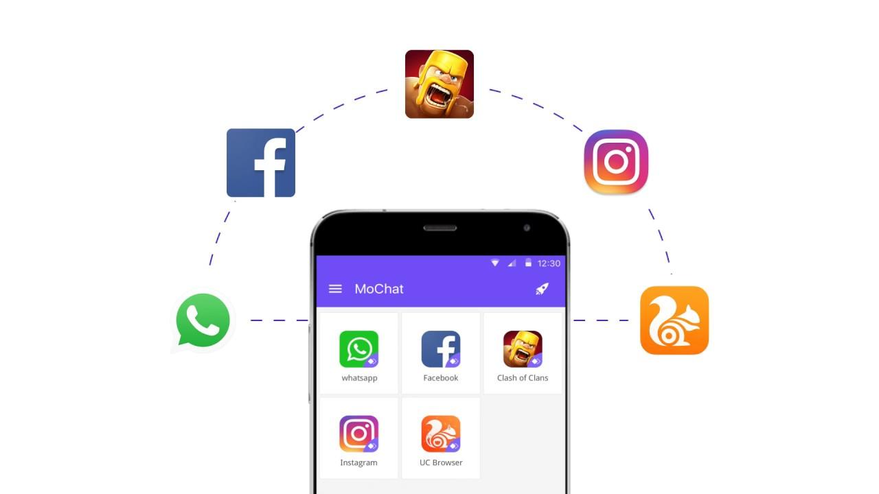 MoChat - Clone App(Dual Sim:2 WhatsApp + 2 Facebook + Multiple parallel  space)