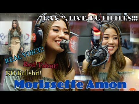 """Morissette Amon [UNCUT! RAW! BTS] """"Mahal Naman Kita"""" Cover with a TWIST at the end, on Wish1075 Bus"""