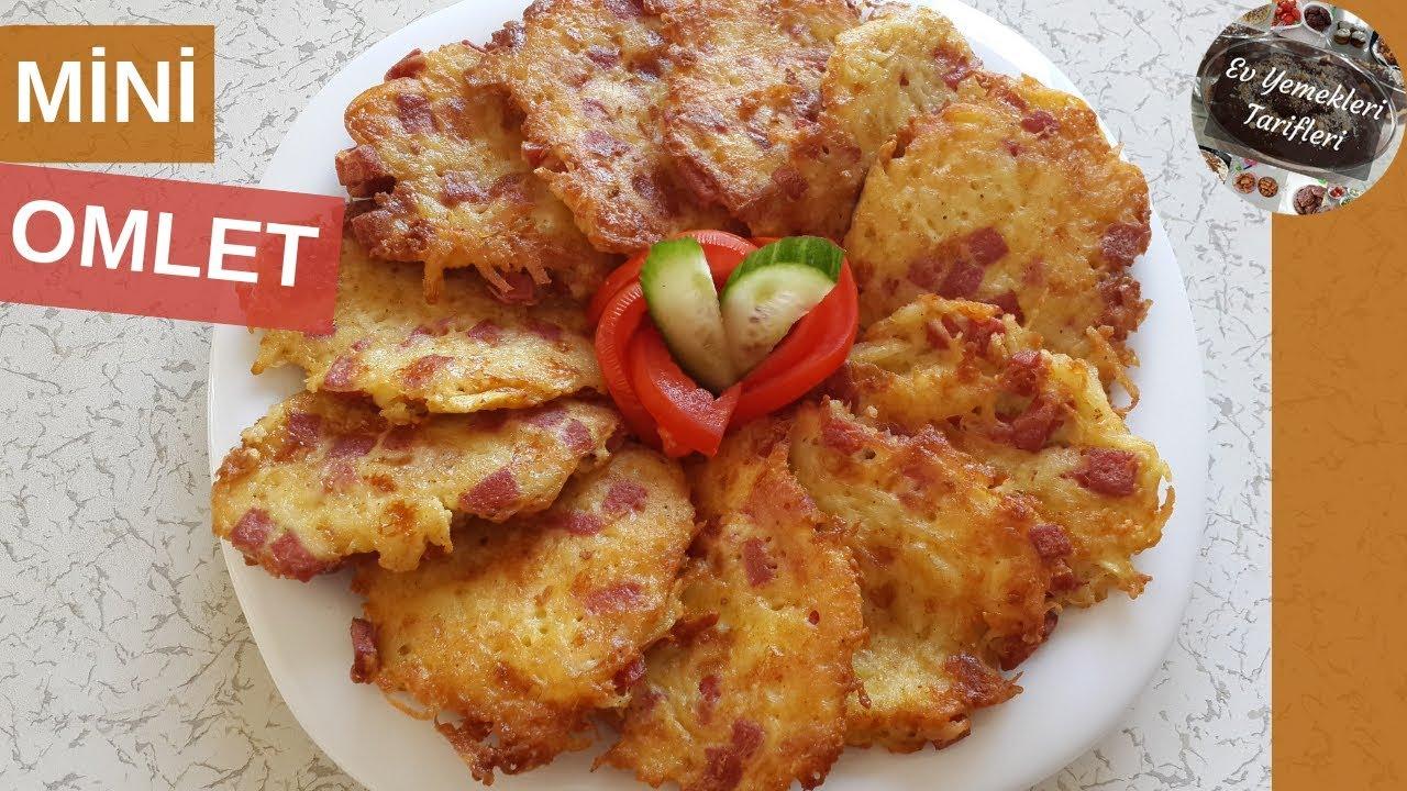 Pratik Mini Omlet Tarifi - Ev Yemekleri Tarifleri