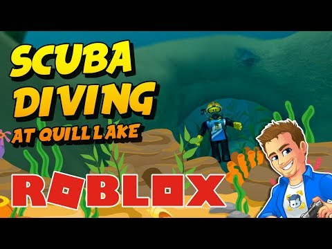 Roblox Scuba Diving At Quill Lake | Let's Play Roblox Minigames | Family Friendly Video!