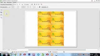 CorelDRAW  урок 2 печать визитки
