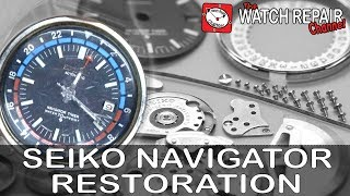 Restoration of a 1970's Seiko Navigator watch