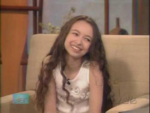 Jodelle Ferland  on The Ellen  2006