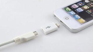 Обзор переходника Micro USB to Lightning (8 pin), адаптер для iPhone, iPad с GearBest