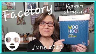 """Facetory for June 2020 """"4 ever fresh kit"""" korean sheet masks"""