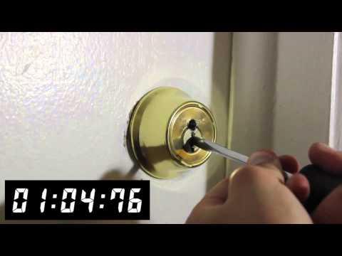 video:Drilling a Kwikset Deadbolt - Front Range Locksmith