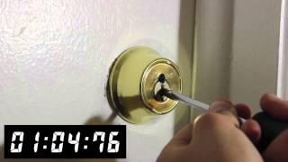 Drilling a Kwikset Deadbolt - Front Range Locksmith