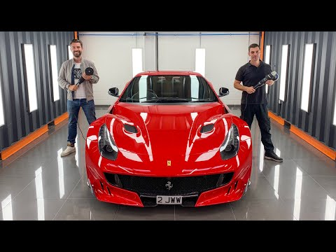Detailing My Ferrari F12 TDF Paintwork For PPF! How To Polish A Car With NVN London Techniques