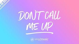 Don't Call Me Up (Piano Karaoke Instrumental) Mabel Video