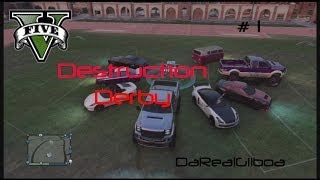 GTA 5 HD Destruction Derby #1 DaRealGilboa n Crew Epic Online PS3 Multiplayer Game