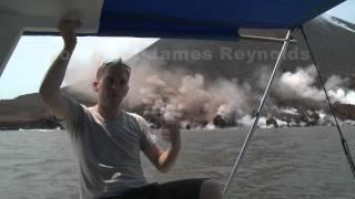 Exploding Lava Flow At Anak Krakatau (Krakatoa) Volcano