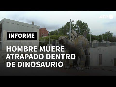 Un hombre muere atrapado dentro de una reproducción de un dinosaurio en España | AFP