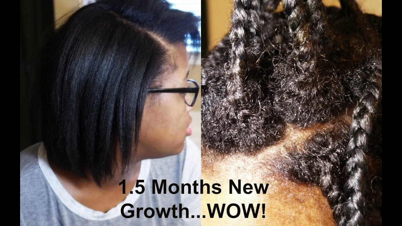 Update 1.5 Month New Growth | Healthy No Knot Box Braids ...