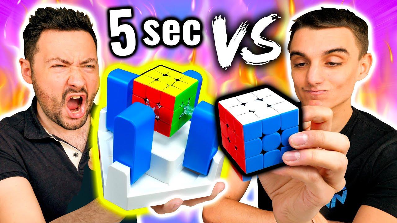 Robot Rubik's Cube VS Champion de France ! (même les yeux fermés)