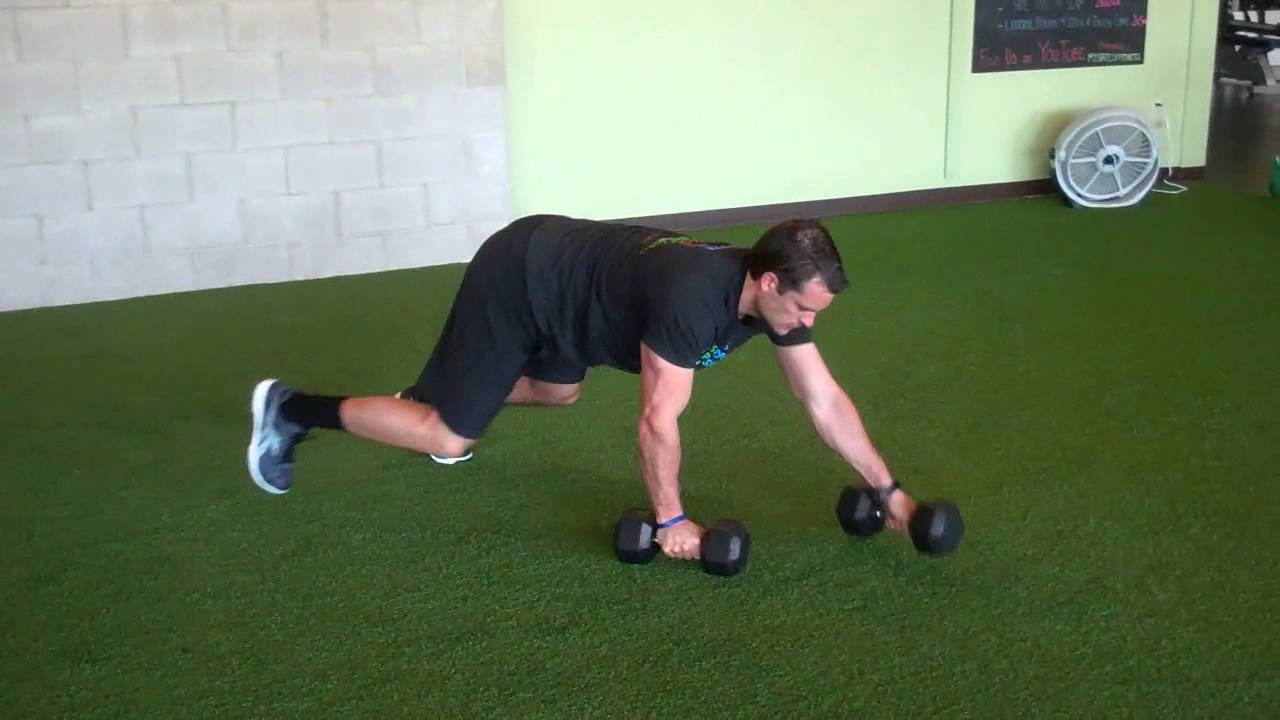 Bear Crawl With Dumbbells Youtube