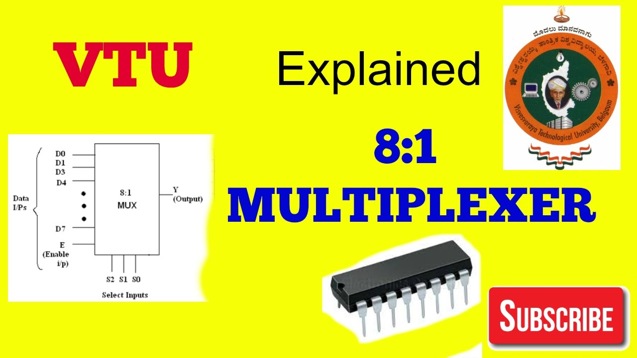 medium resolution of 8 1 multiplexer ic 74151 3rd semester computer science vtu laboratory experiment