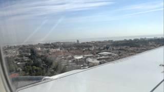 Посадка в аэропорте Лиссабона, Португалия
