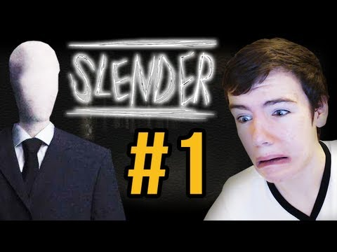 SLENDER MAN! - Slender: Let's Play (w/ Facecam) - Part 1
