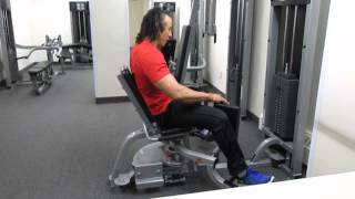 How to use the hip adductor and hip abductor machine