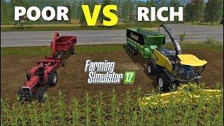Farming Simulator 17 : RICH VS POOR!!! -Farmer Comparison - SILAGE MACHINES