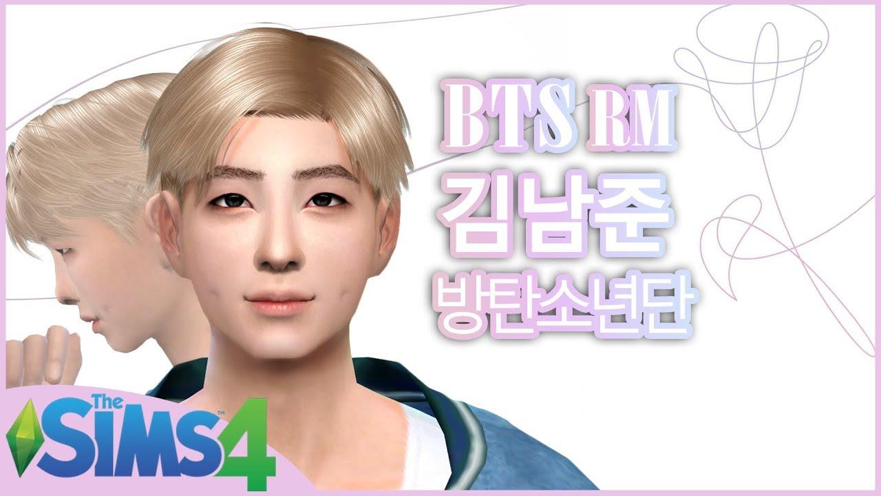 The Sims 4 Create A Sim: RM(남준) of BTS(방탄소년단) + DL w/ CC