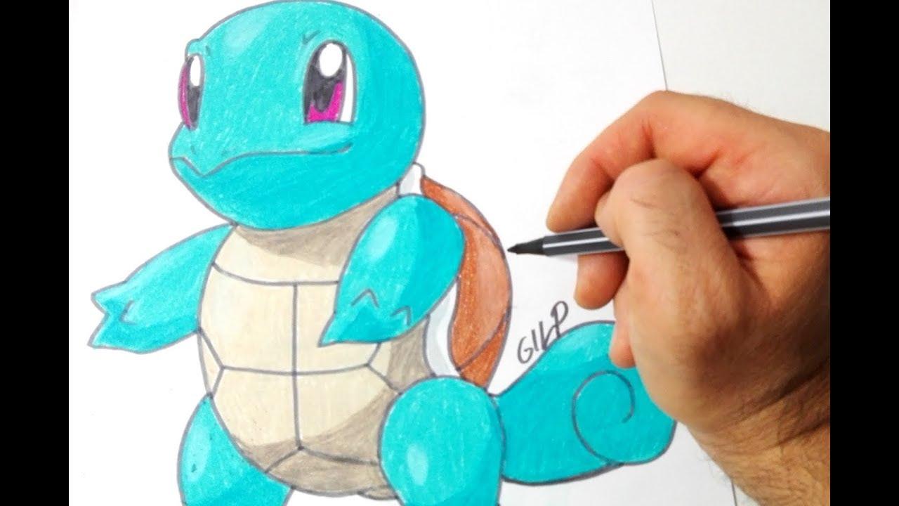 Come Disegnare E Colorare Squirtle Dei Pokemon Youtube