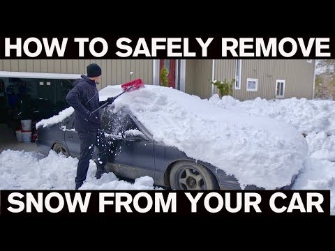 How SAFELY Remove Snow from your Car