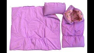 Конверт одеяло на выписку из роддома видео обзор