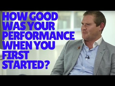 How good was your performance when you started trading?