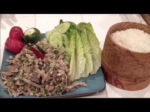 C/w Nana: Lao Spicy Pork Salad (ລາບໝູ == Larb Moo)
